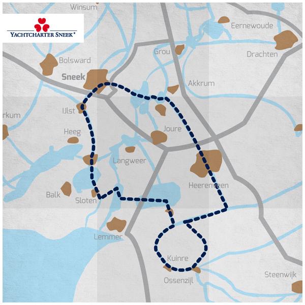 4 Dagen route, Zuid Friesland